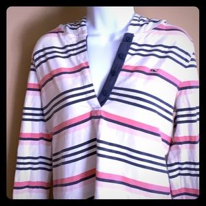 Vineyard Vines Stripes hooded pullover- Medium